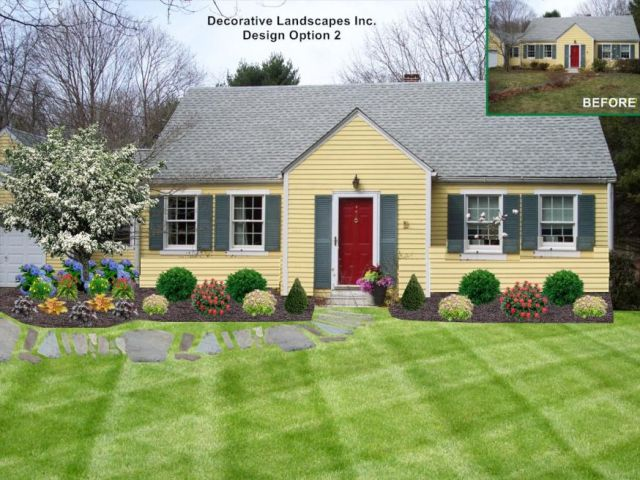 Nice simple landscape ideas for front of house