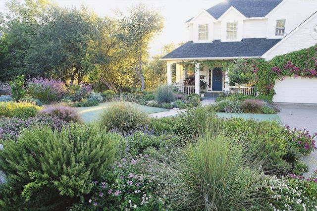 Gorgeous front garden design ideas no grass