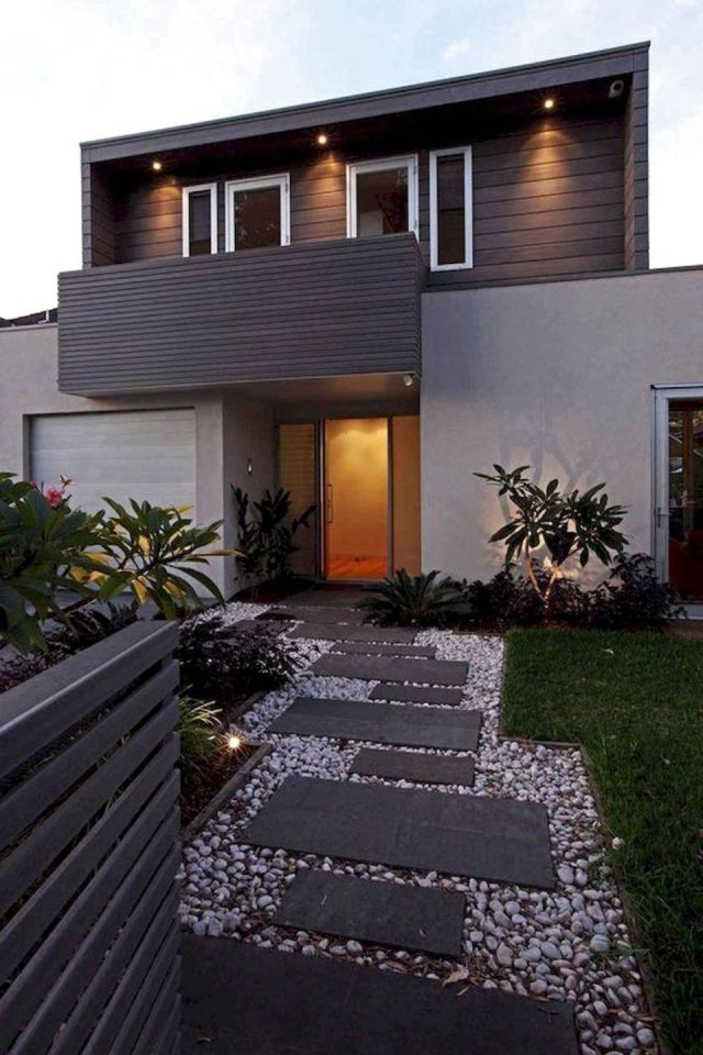 Nice modern landscaping ideas for front of house