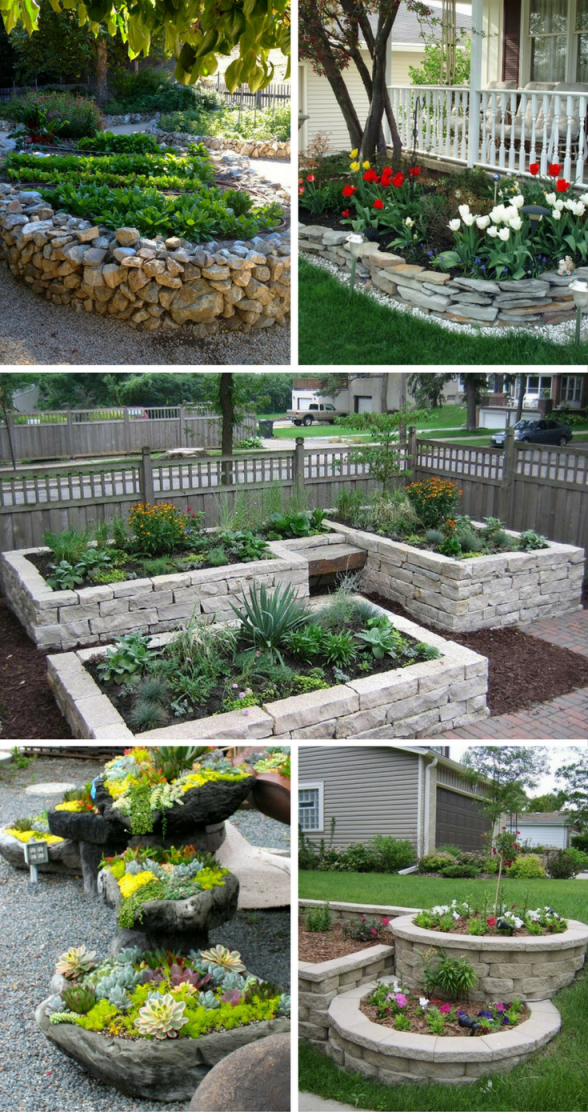 Fantastic Flower Bed Ideas With Rocks