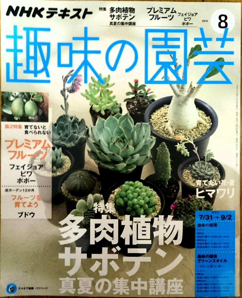 【趣味の園芸】特集多肉植物サボテン真夏の集中講座