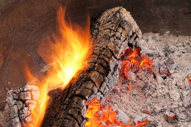 Wood ash for gardening and composting