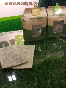 Go Green Expo Seed infused wool mats