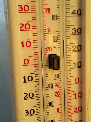 Temperatures inside the greenhouse