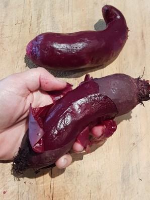 Peel beetroot