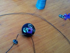 How to Start a Beaded Button