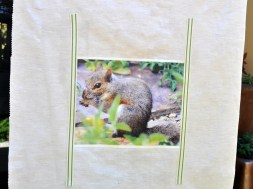 Photo and twill tape attached with fusible tape