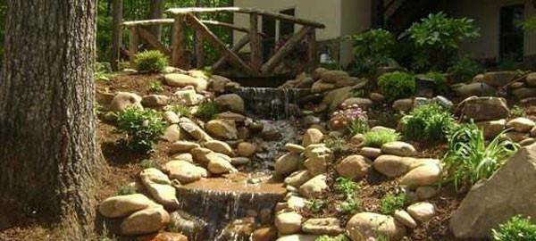 Backyard Pond And Water Feature Ideas on Backyard Stream Ideas id=51505