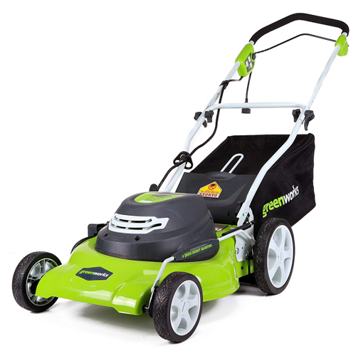GreenWorks 25022 12 Amp 20-Inch 3-in-1 Electric Lawn Mower