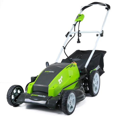 GreenWorks 25112 13 Amp 21-Inch Corded Electric Lawn Mower