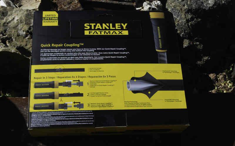 stanley fatmax exojacket hose packaging