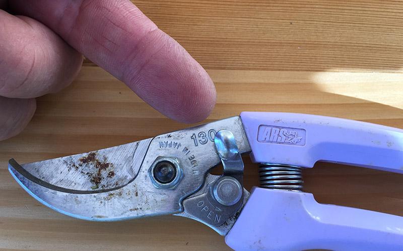 ARS General Purpose Hand Pruner-Locking Mechanism