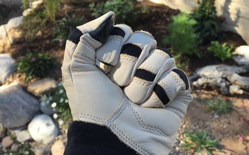 Bionic ReliefGrip garden gloves are flexible and fit well