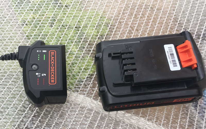 Black & Decker Cordless Sweeper battery charger