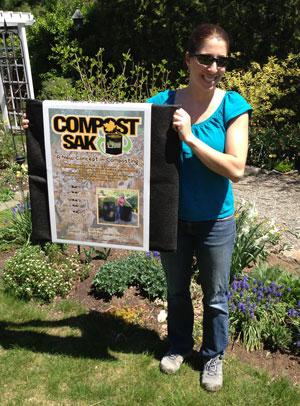 Compost Sak before unpacking