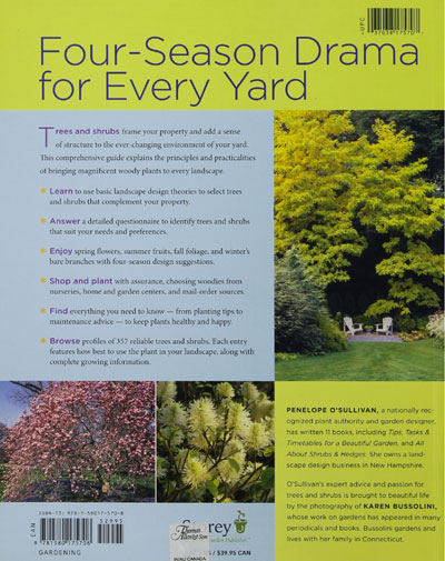 The Homeowner's Complete Tree & Shrub Handbook - back cover