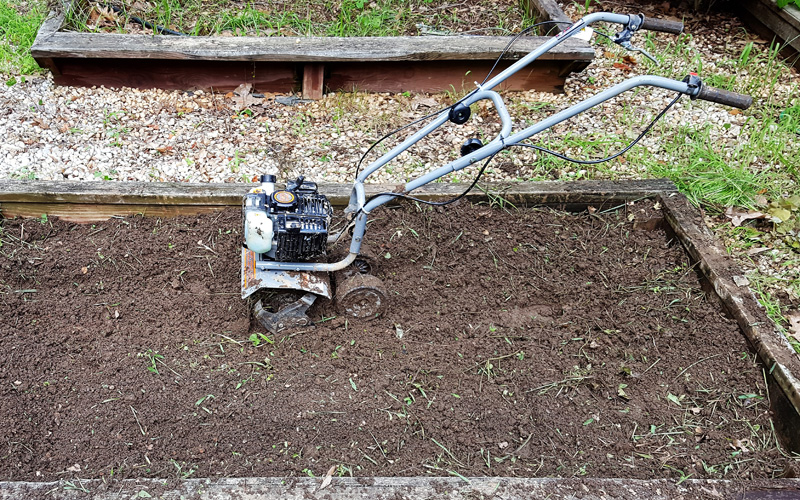 Dirty Hand Tools Mini Cultivator Engine Power