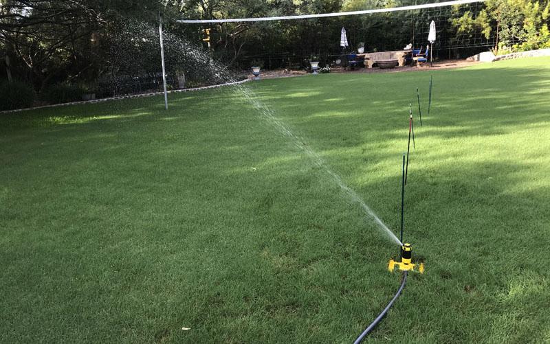 Dramm 4 pattern sprinkler in use
