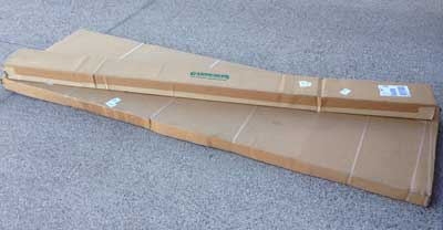elevated cedar planter box in packaging itu0027s heavy