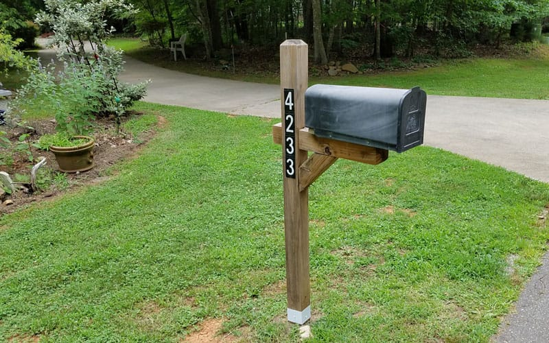 Fence Armor installed on mailbox