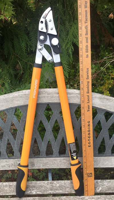 Fiskars Cut And Grab loppers overall length