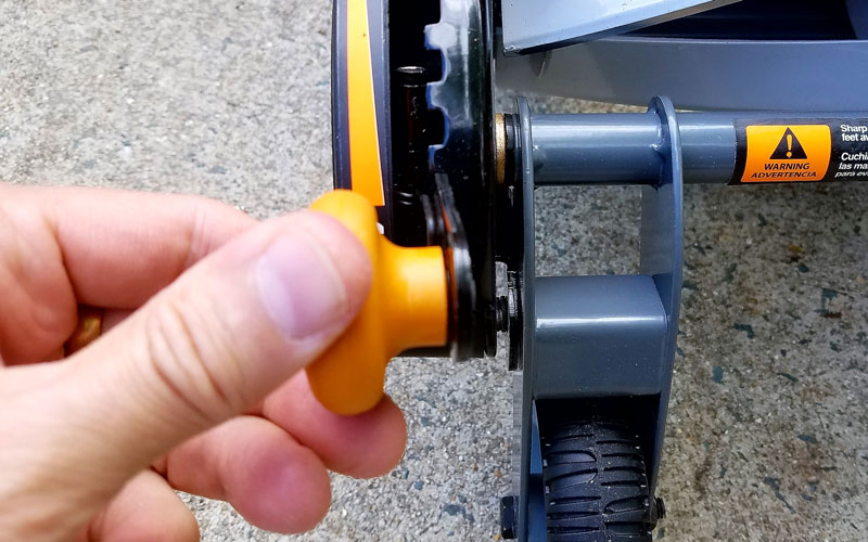 Fiskars Reel Mower height adjustment