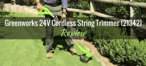Greenworks 24V Cordless String Trimmer 21342 Featured