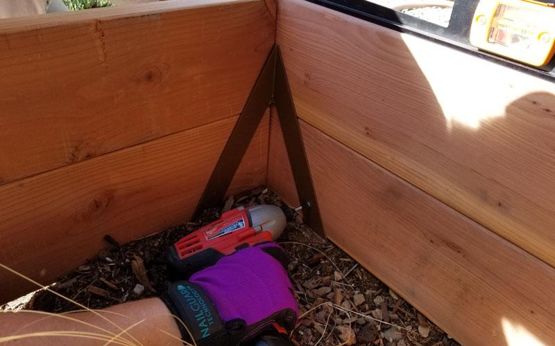 Instabrace screwing planks to brackets