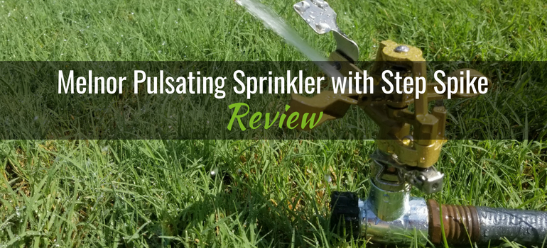 Melnor Pulsating Sprinkler with step spike