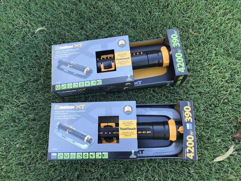 Melnor XT Turbo Oscillating Sprinkler packaging