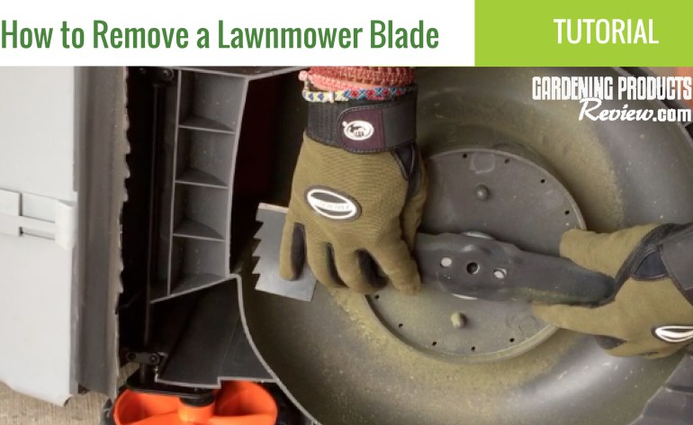 how to remove a lawnnmower blade