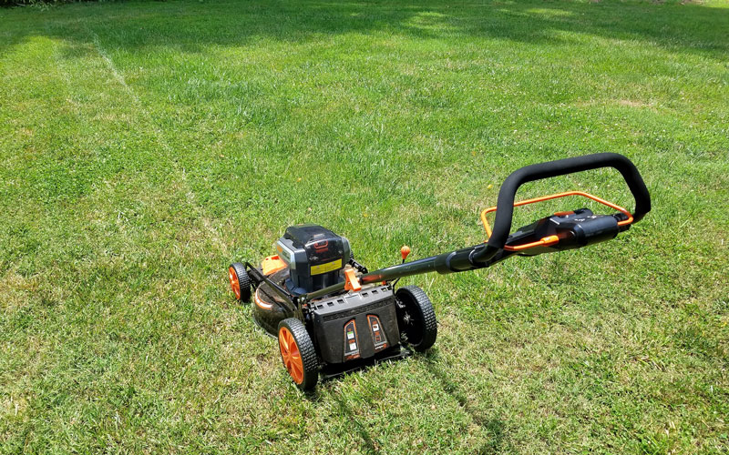 Redback mower in use