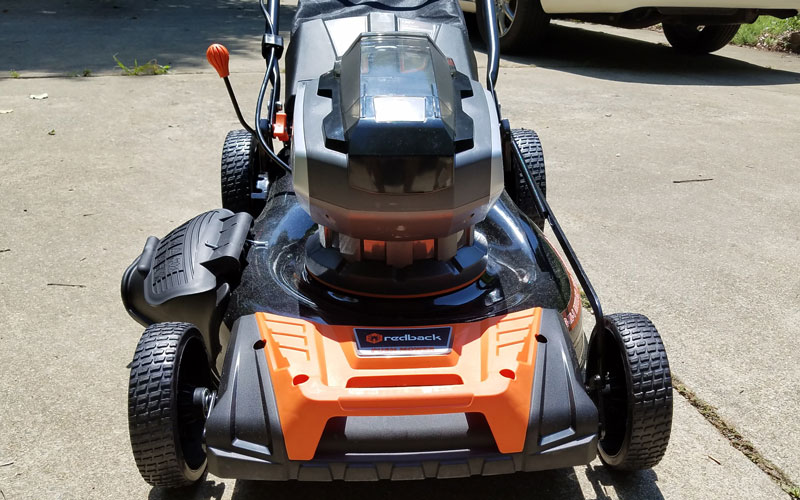 Redback mower from the front
