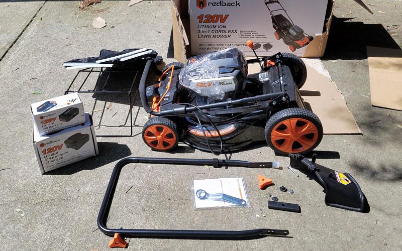 "Redback 120V 21"" Cordless Push Lawn Mower: Review"