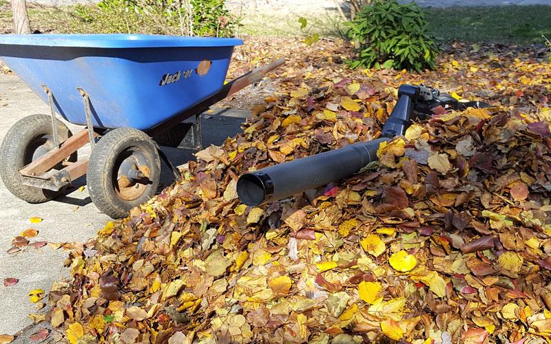 Redback 120V Blower wheelbarrow loads