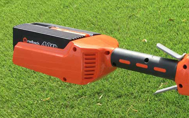 Redback 40V Lithium Ion Cordless String Trimmer Battery-Compartment