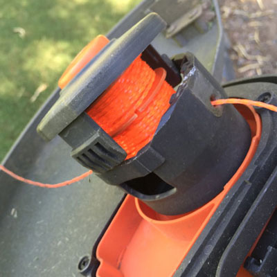 Redback 40V Lithium Ion Cordless String Trimmer Head Disassembled