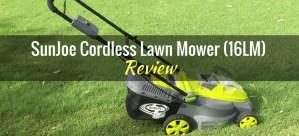 SunJoe Cordless Lawn Mower 16LM Featured