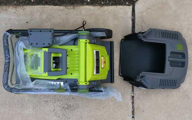 SunJoe Cordless Lawn Mower Unpackaged