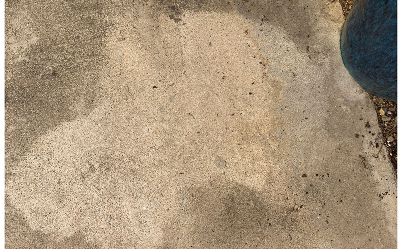 WORX Hydroshot cleaned concrete