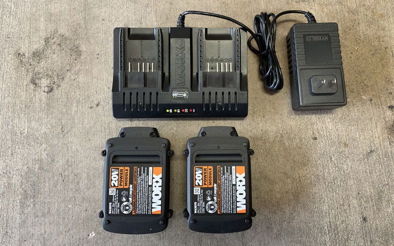 WORX Hydroshot dual battery charging station