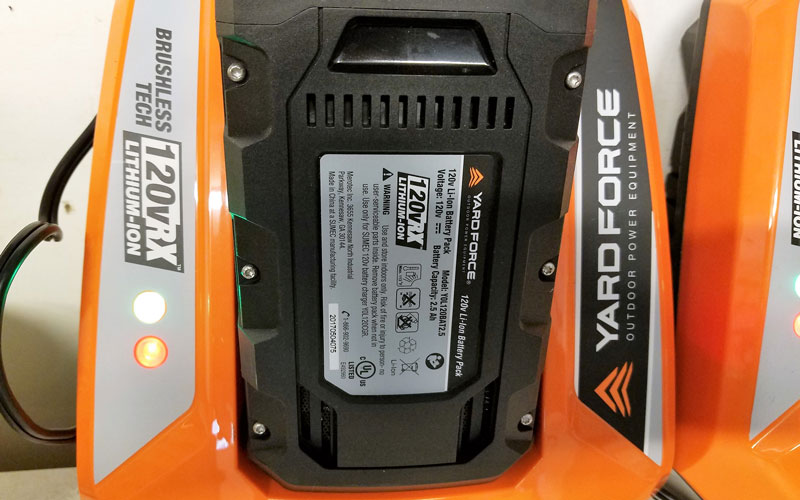 Yard Force 120V Cordless Mower charger