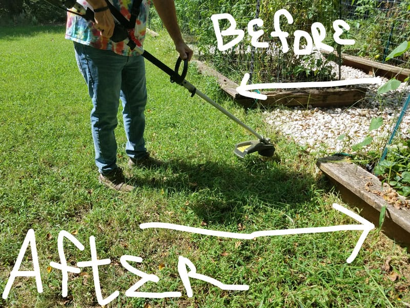 Yard-Force-120v-string-trimmer-edging-raised-beds