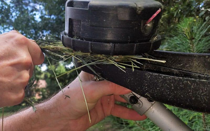 Yard-Force-120v-string-trimmer-jammed