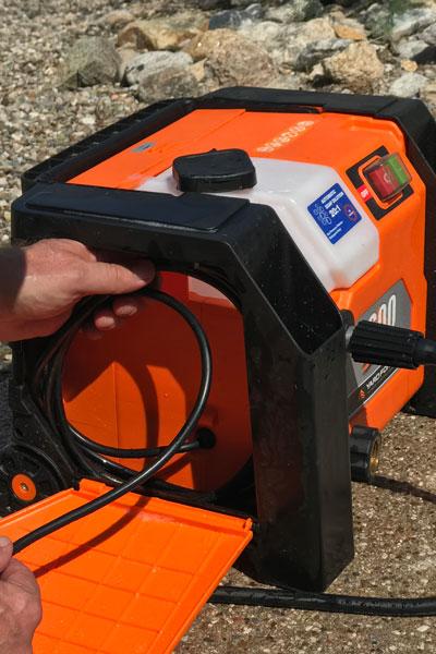 Yard Force Pressure Washer electrical cord storage