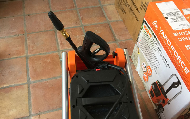 Yard Force Pressure Washer storage