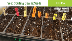YouTube Seed Starting Sowing