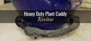 Heavy duty plant caddy from Cascade Manufacturing underneath a blue pot