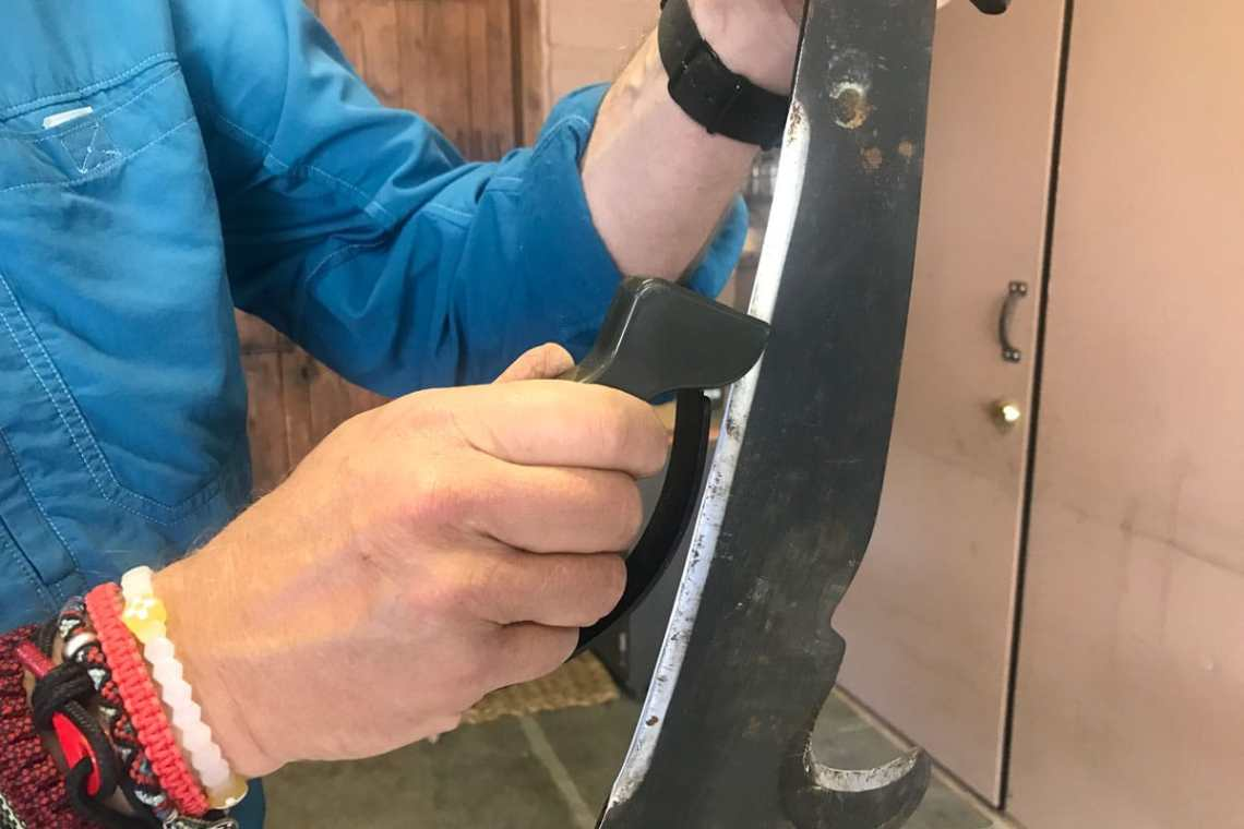 sharpening a blade