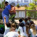 MG Volunteer with children